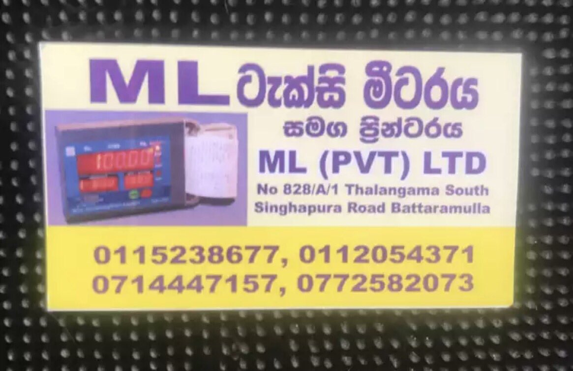 ML TAXI METERS-ML(PVT)LTD-battaramulla taxi metes-electronic