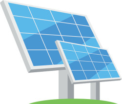Solar panels. Types of alternative energy. Eco-friendly energy.