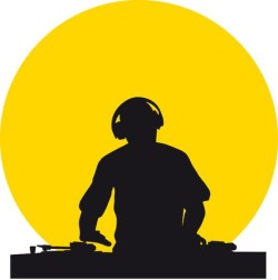 35379612-stock-vector-silhouette-of-a-dj-wearing-headphones-in-front-of-a-yellow-sun